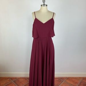 Lulu's Maroon Maxi Dress